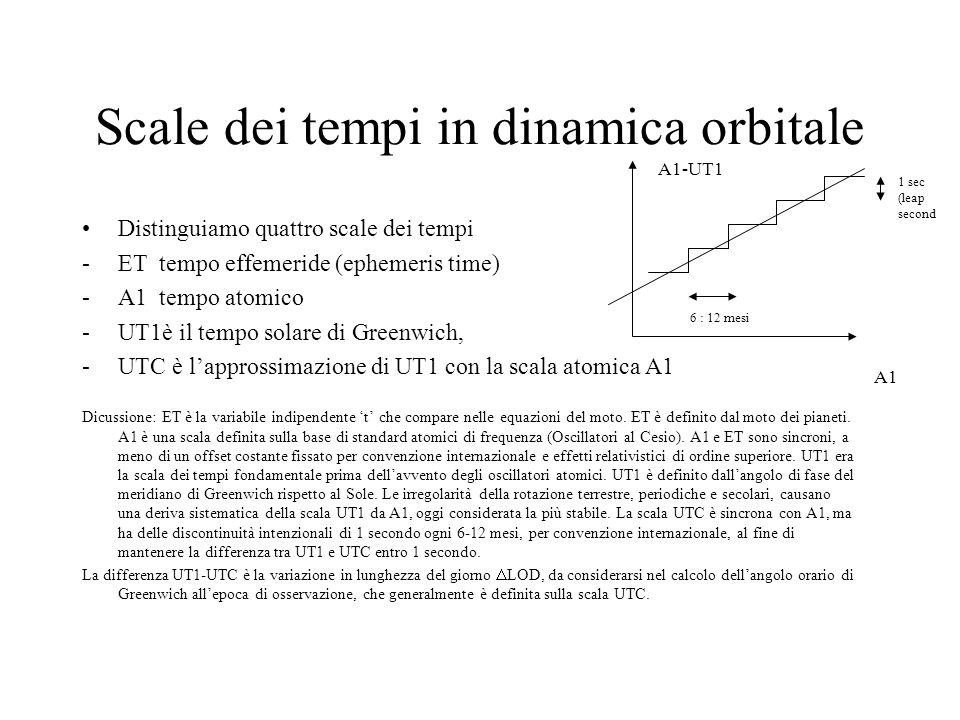 Scale dei tempi in dinamica orbitale