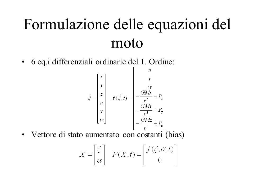 Formulazione delle equazioni del moto