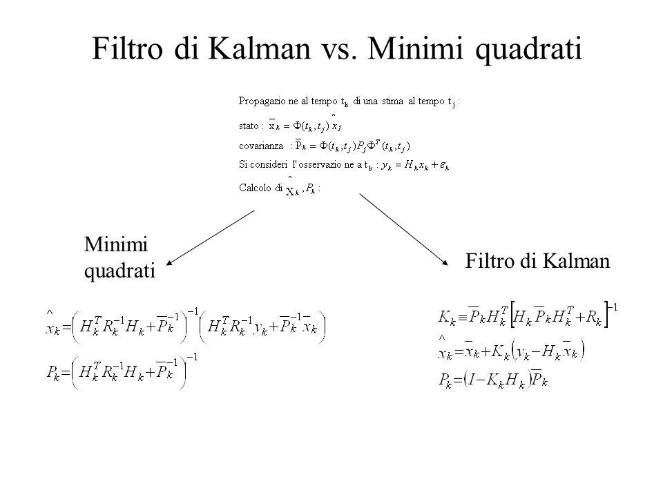 Filtro di Kalman vs. Minimi quadrati