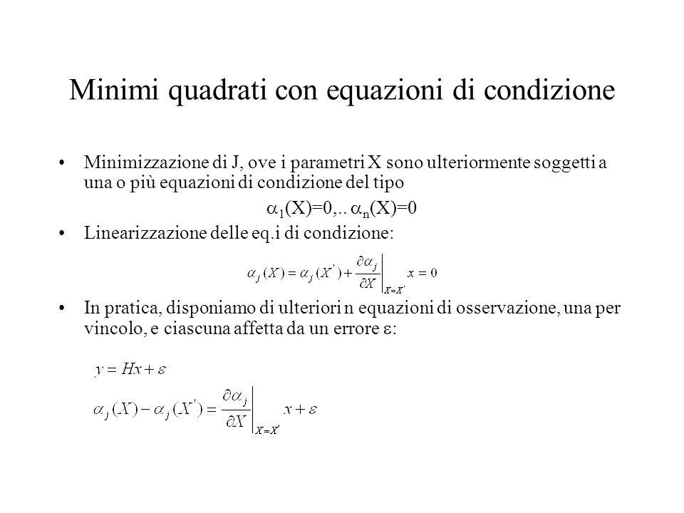 Minimi quadrati con equazioni di condizione
