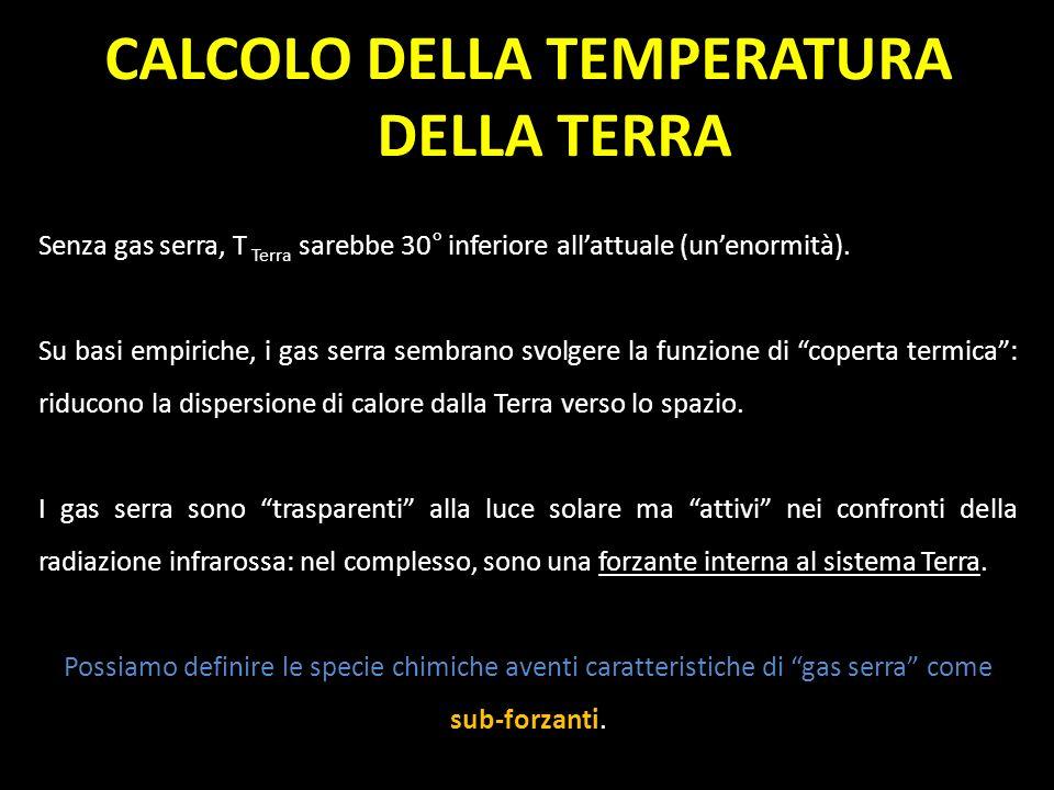 CALCOLO DELLA TEMPERATURA DELLA TERRA