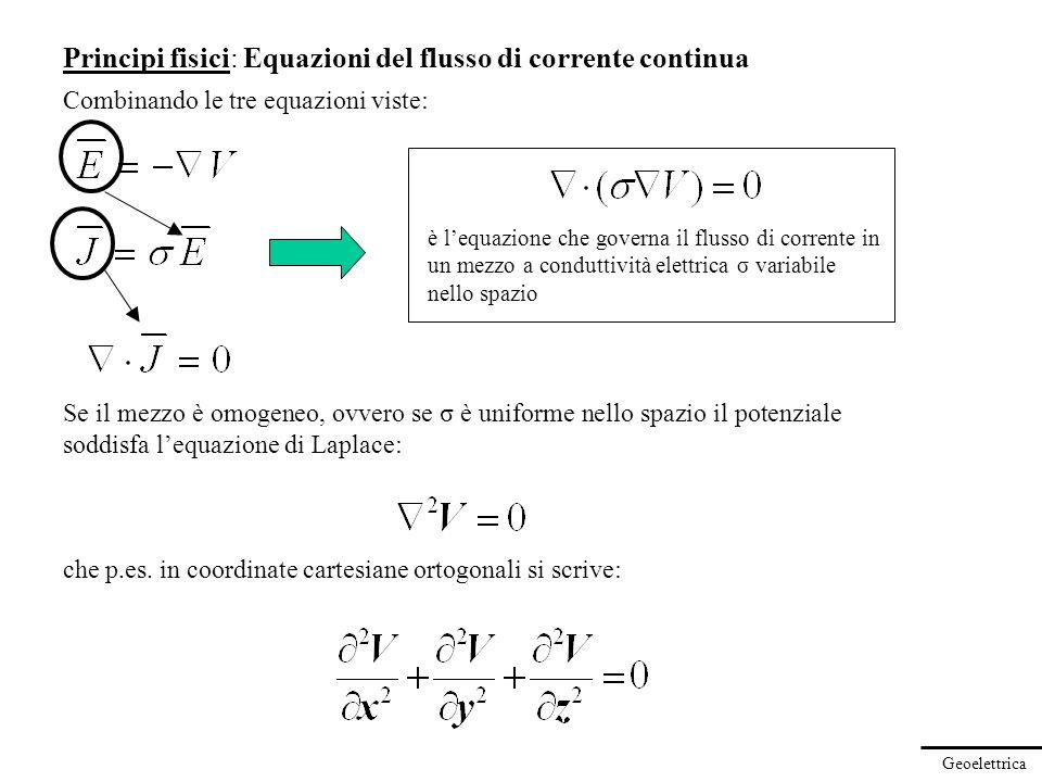 Principi fisici: Equazioni del flusso di corrente continua