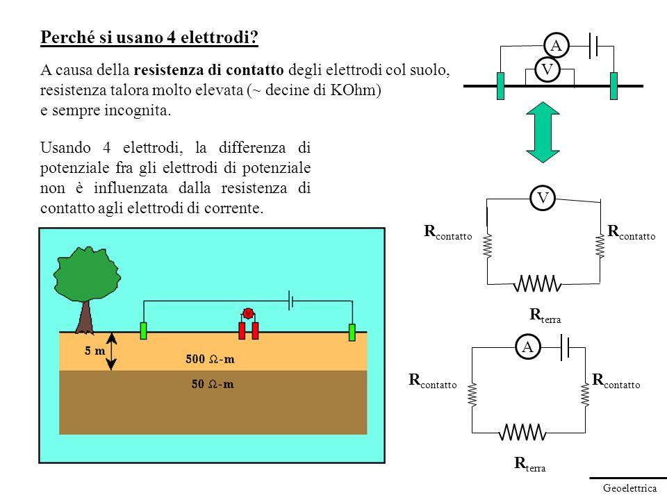 Perché si usano 4 elettrodi