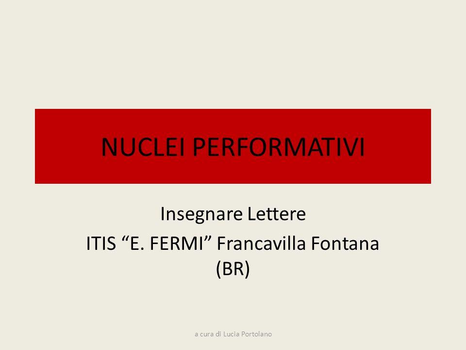 Insegnare Lettere ITIS E. FERMI Francavilla Fontana (BR)