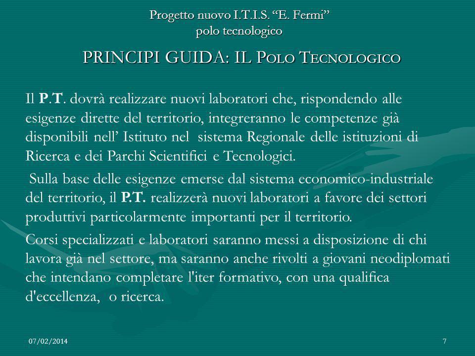 Progetto nuovo I.T.I.S. E. Fermi polo tecnologico