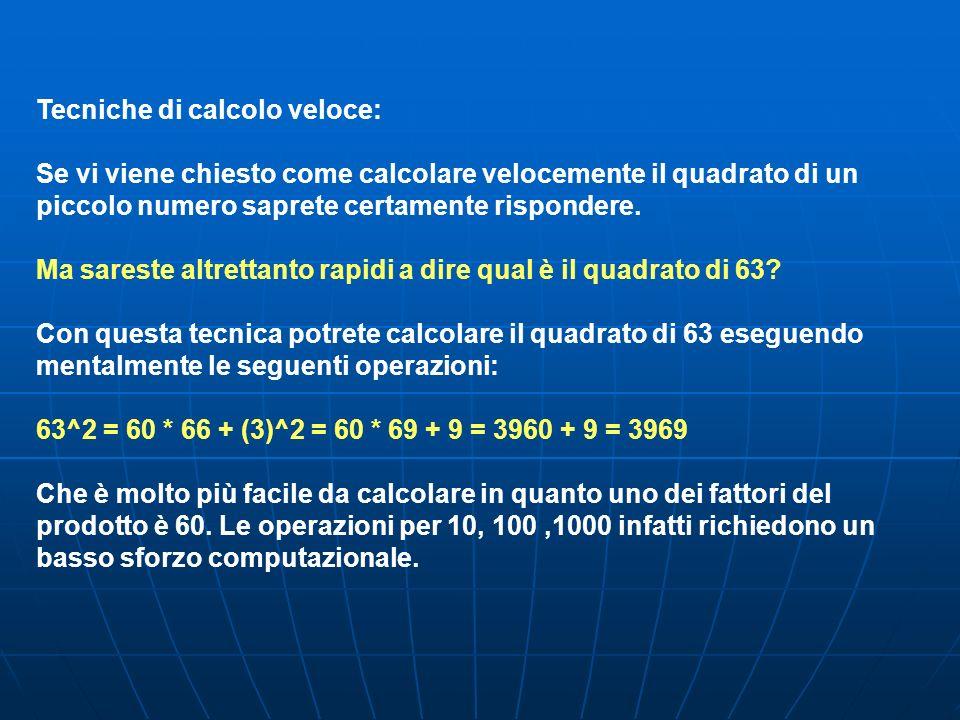 Tecniche di calcolo veloce: