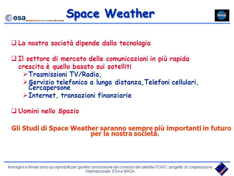 Space Weather La nostra società dipende dalla tecnologia