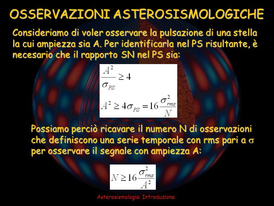 OSSERVAZIONI ASTEROSISMOLOGICHE