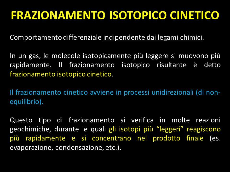 FRAZIONAMENTO ISOTOPICO CINETICO