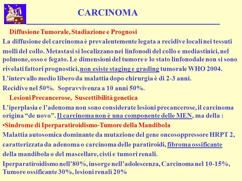 CARCINOMA Diffusione Tumorale, Stadiazione e Prognosi