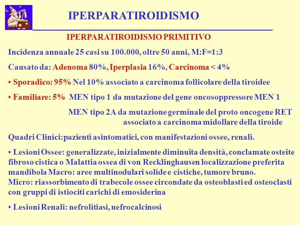 IPERPARATIROIDISMO IPERPARATIROIDISMO PRIMITIVO