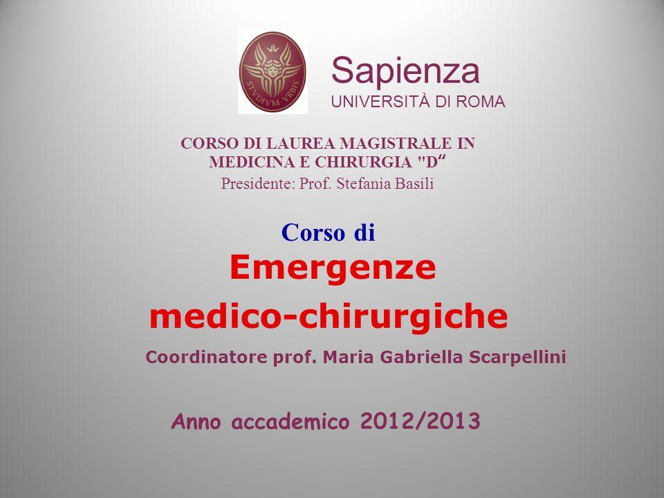 Corso di Emergenze medico-chirurgiche