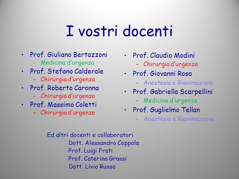 I vostri docenti Prof. Giuliano Bertazzoni Prof. Stefano Calderale