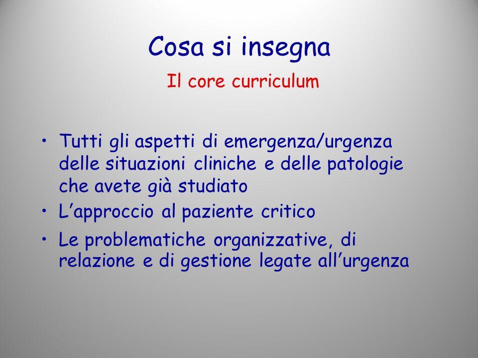 Cosa si insegna Il core curriculum