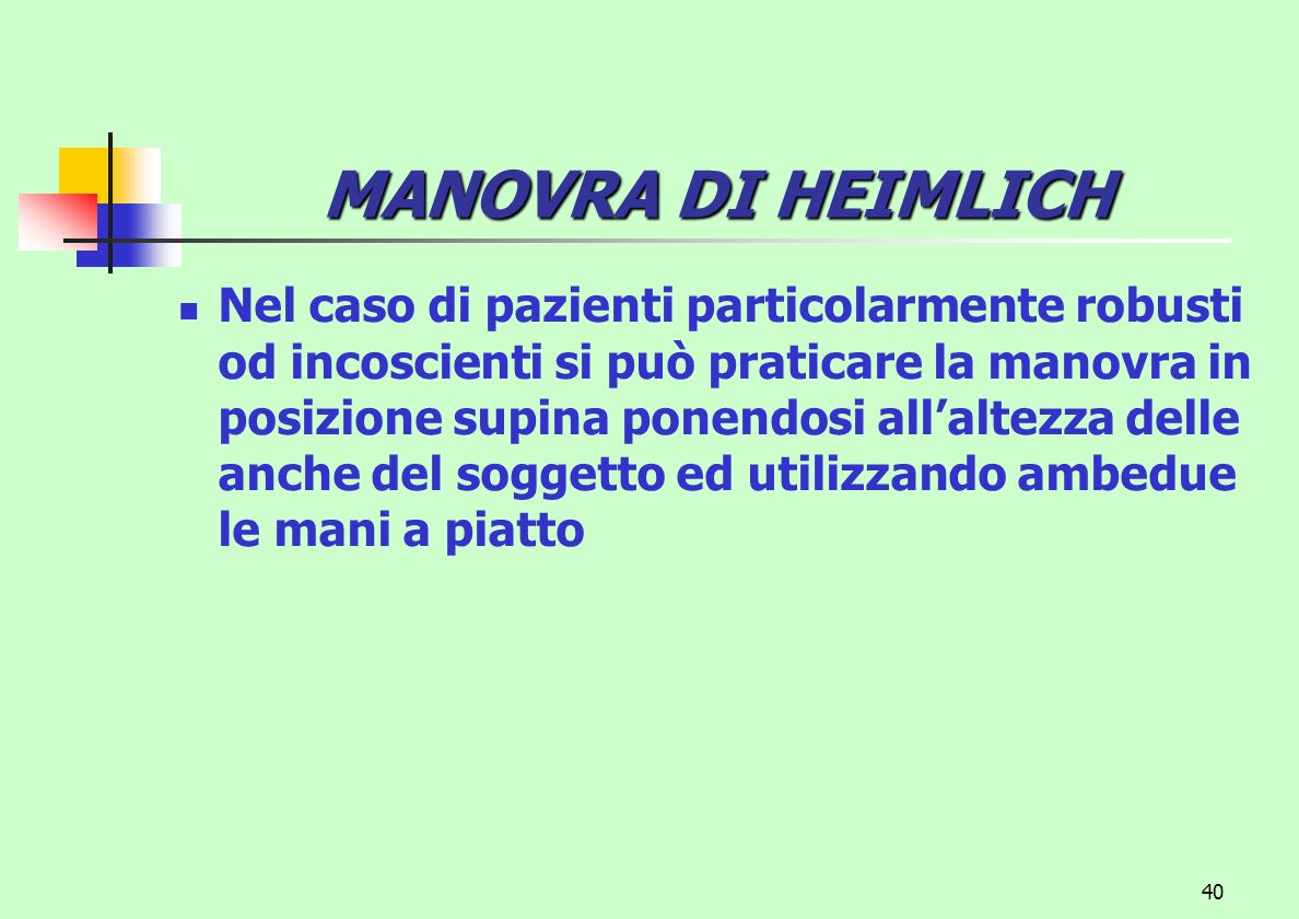 MANOVRA DI HEIMLICH
