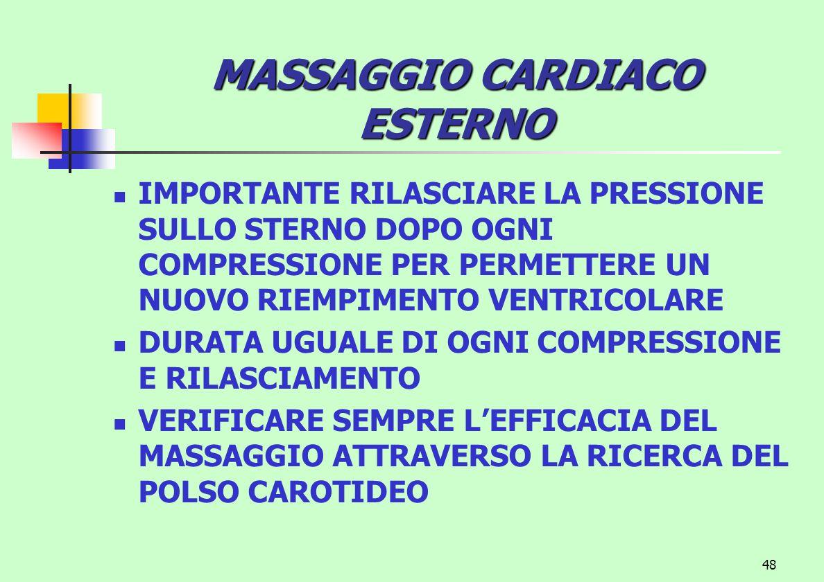 MASSAGGIO CARDIACO ESTERNO