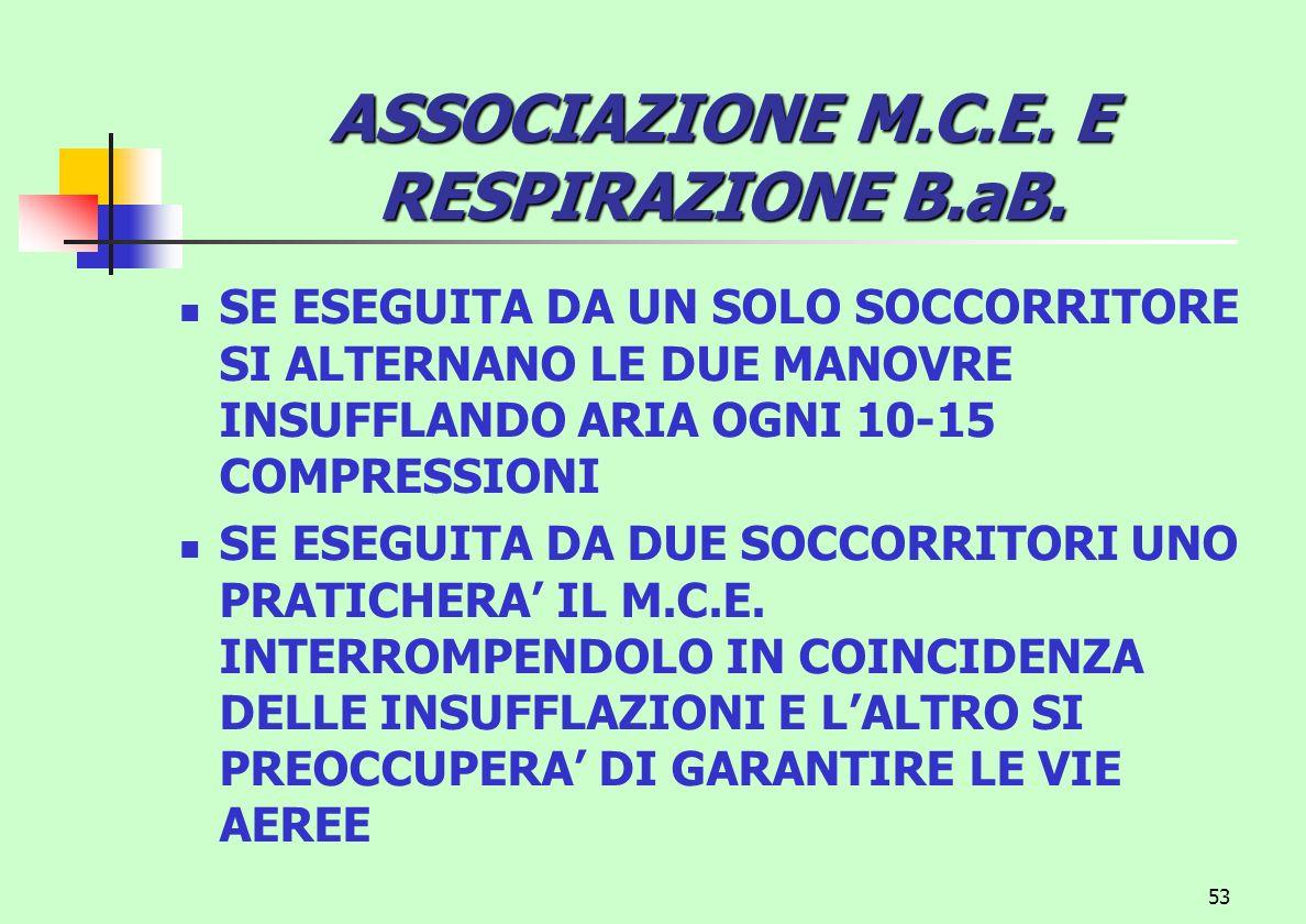 ASSOCIAZIONE M.C.E. E RESPIRAZIONE B.aB.