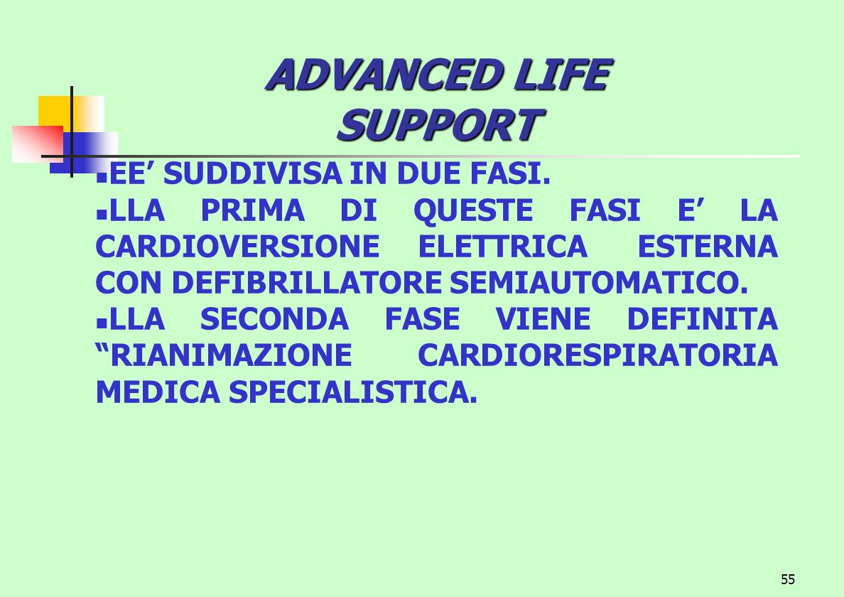 ADVANCED LIFE SUPPORT EE' SUDDIVISA IN DUE FASI.