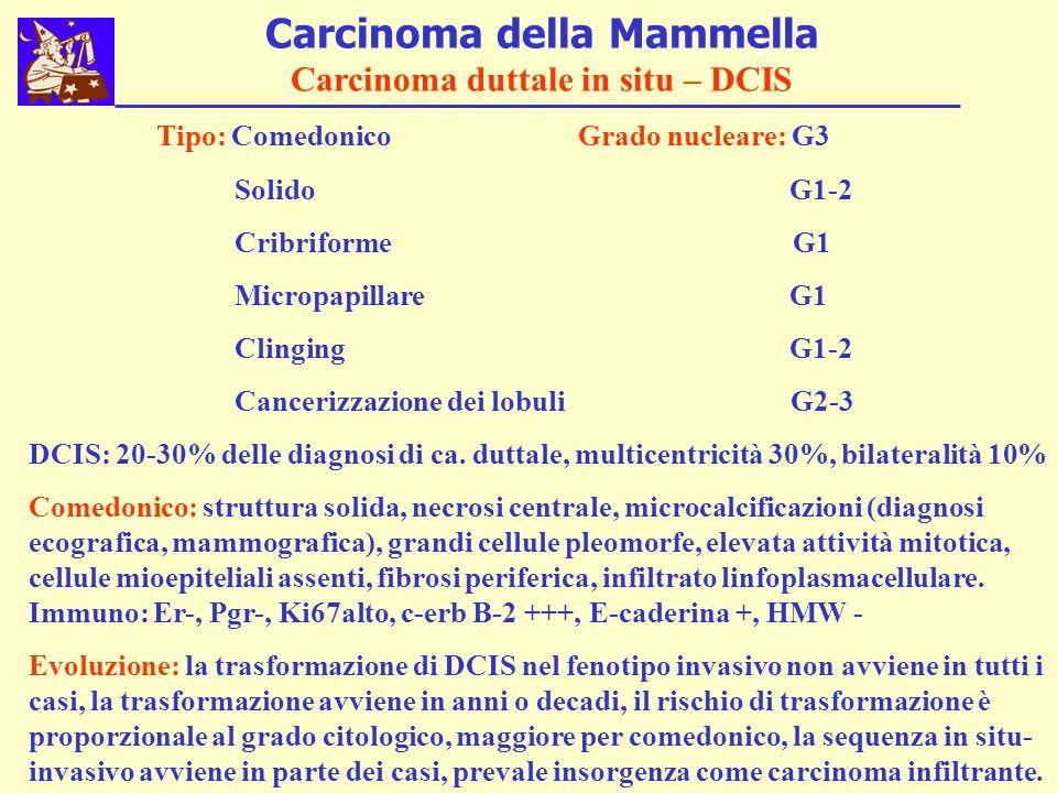 Carcinoma della Mammella Carcinoma duttale in situ – DCIS