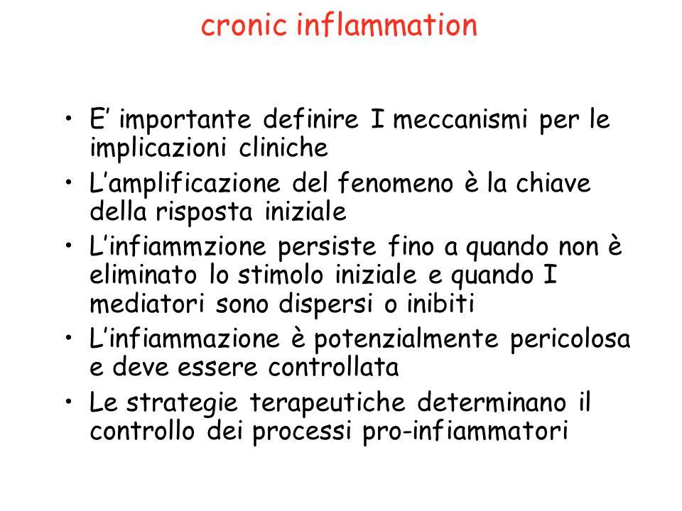 cronic inflammation E' importante definire I meccanismi per le implicazioni cliniche.