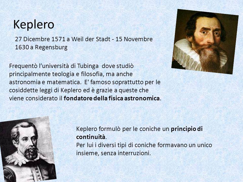 Keplero 27 Dicembre 1571 a Weil der Stadt - 15 Novembre 1630 a Regensburg.