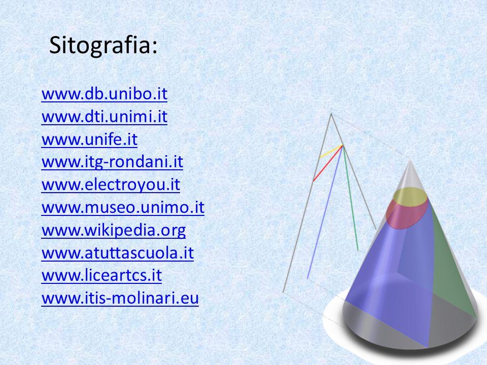 Sitografia: www.db.unibo.it www.dti.unimi.it www.unife.it