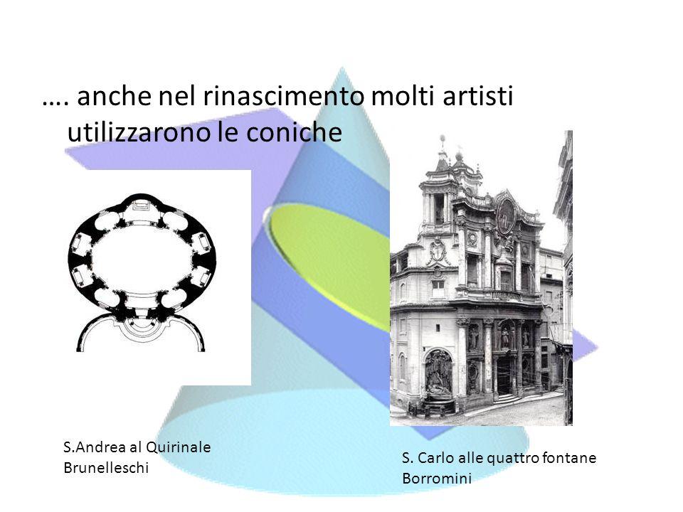 …. anche nel rinascimento molti artisti utilizzarono le coniche