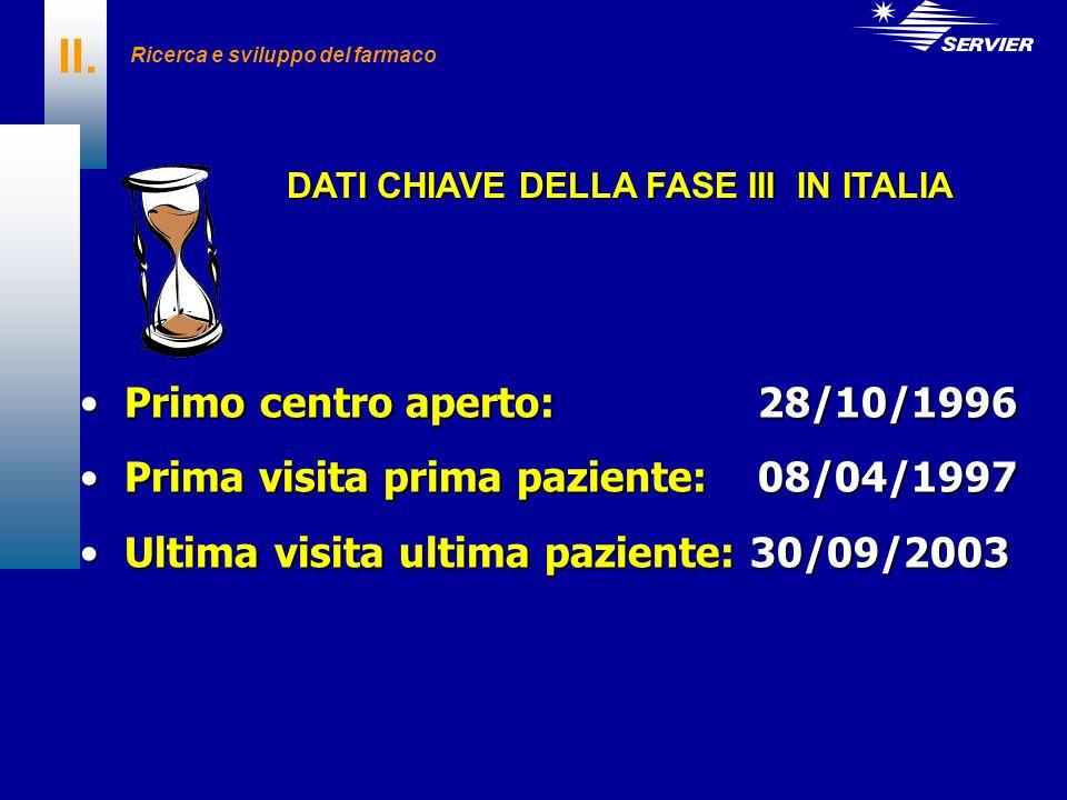 DATI CHIAVE DELLA FASE III IN ITALIA