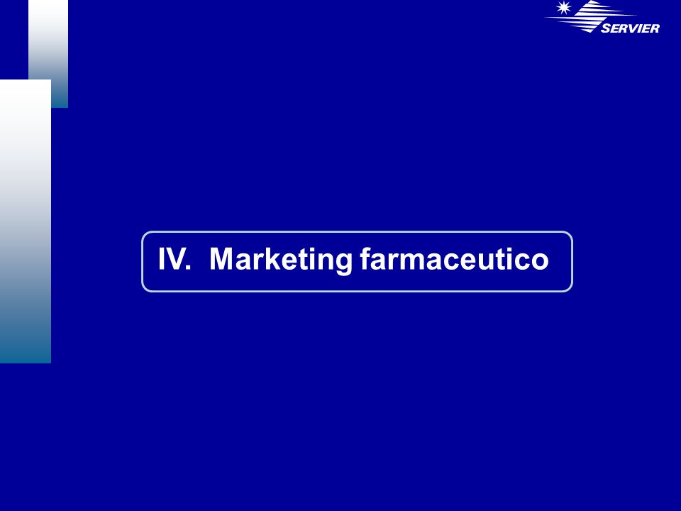 IV. Marketing farmaceutico