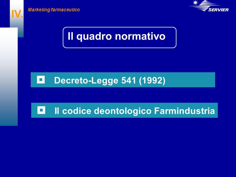  Il codice deontologico Farmindustria