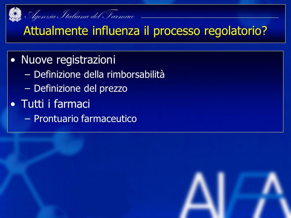 Attualmente influenza il processo regolatorio