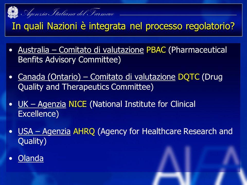 In quali Nazioni è integrata nel processo regolatorio