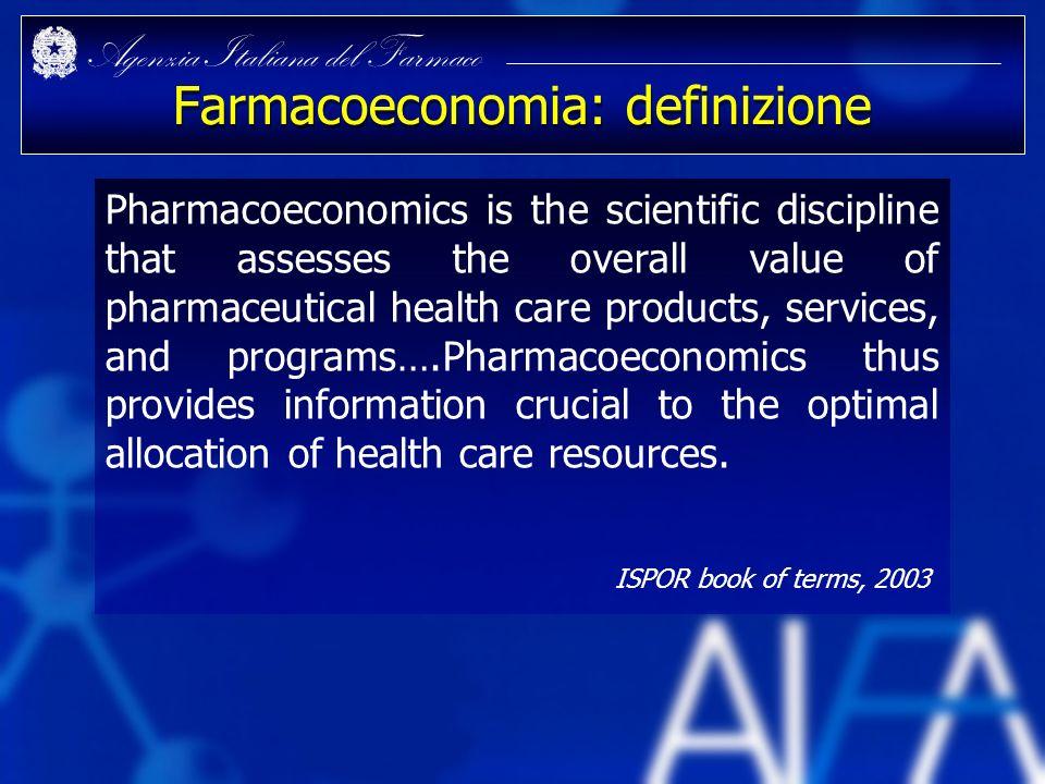 Farmacoeconomia: definizione