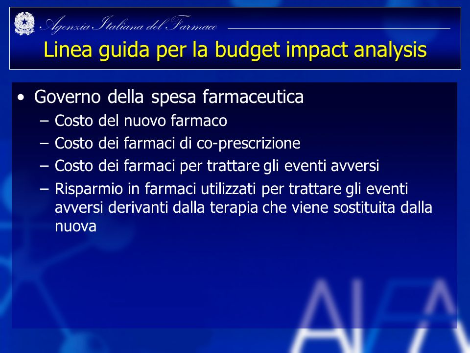 Linea guida per la budget impact analysis