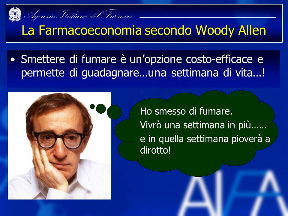La Farmacoeconomia secondo Woody Allen