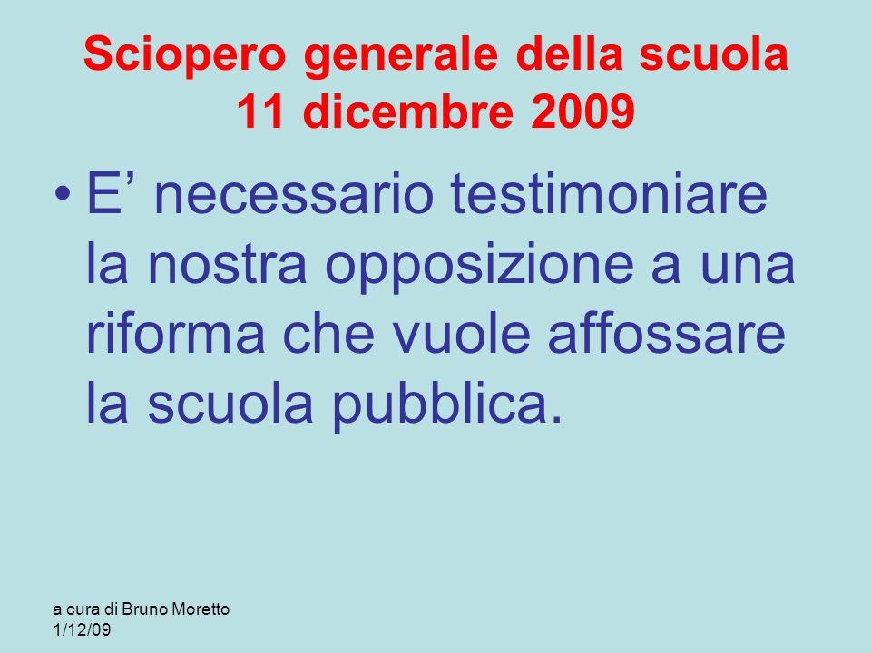 Sciopero generale della scuola 11 dicembre 2009