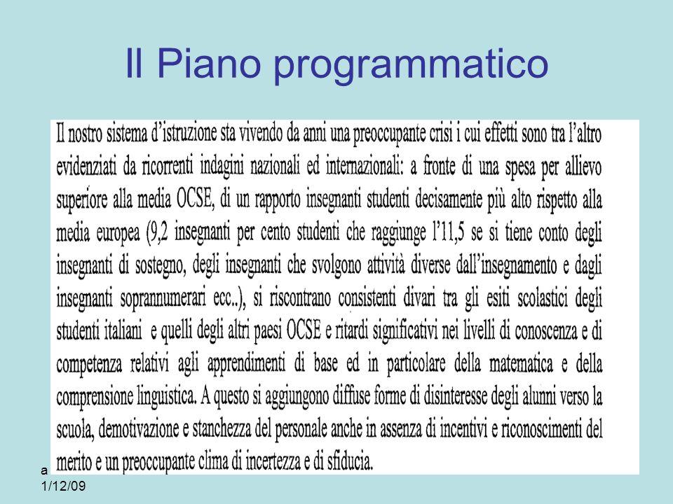 Il Piano programmatico