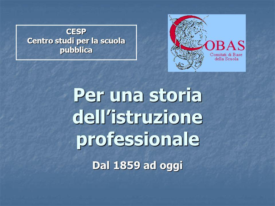 Per una storia dell'istruzione professionale