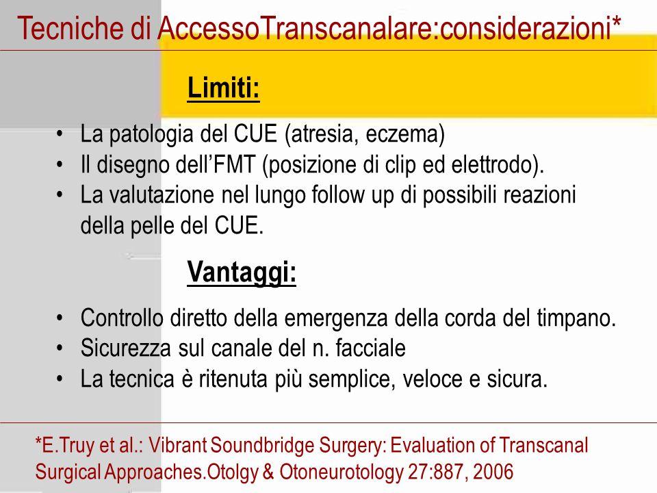 Tecniche di AccessoTranscanalare:considerazioni*
