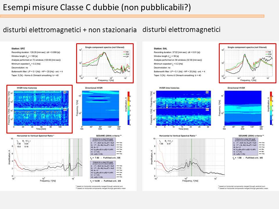 Esempi misure Classe C dubbie (non pubblicabili )