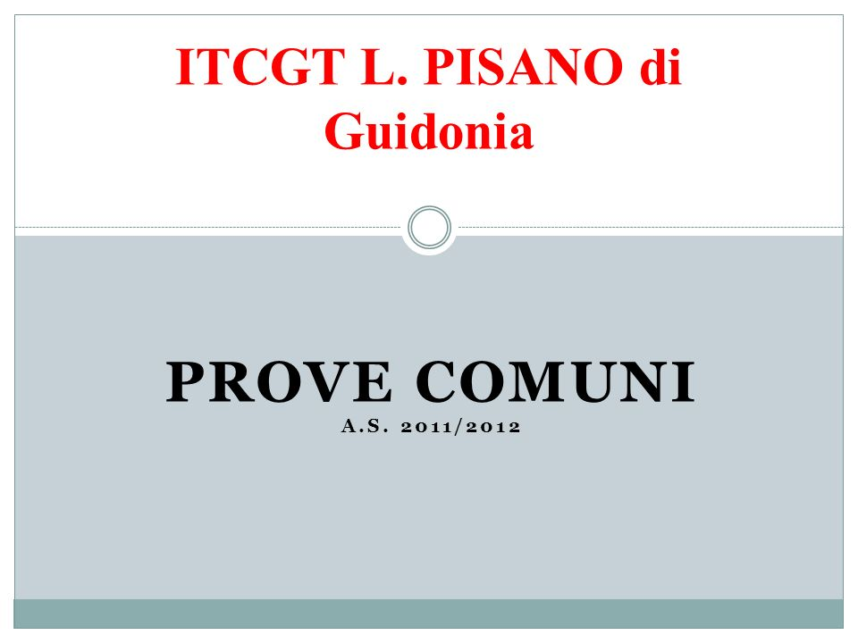 ITCGT L. PISANO di Guidonia