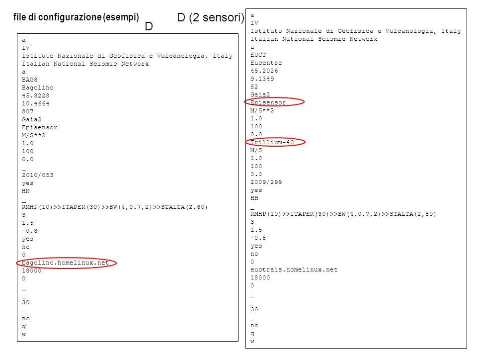 D (2 sensori) D file di configurazione (esempi) a IV