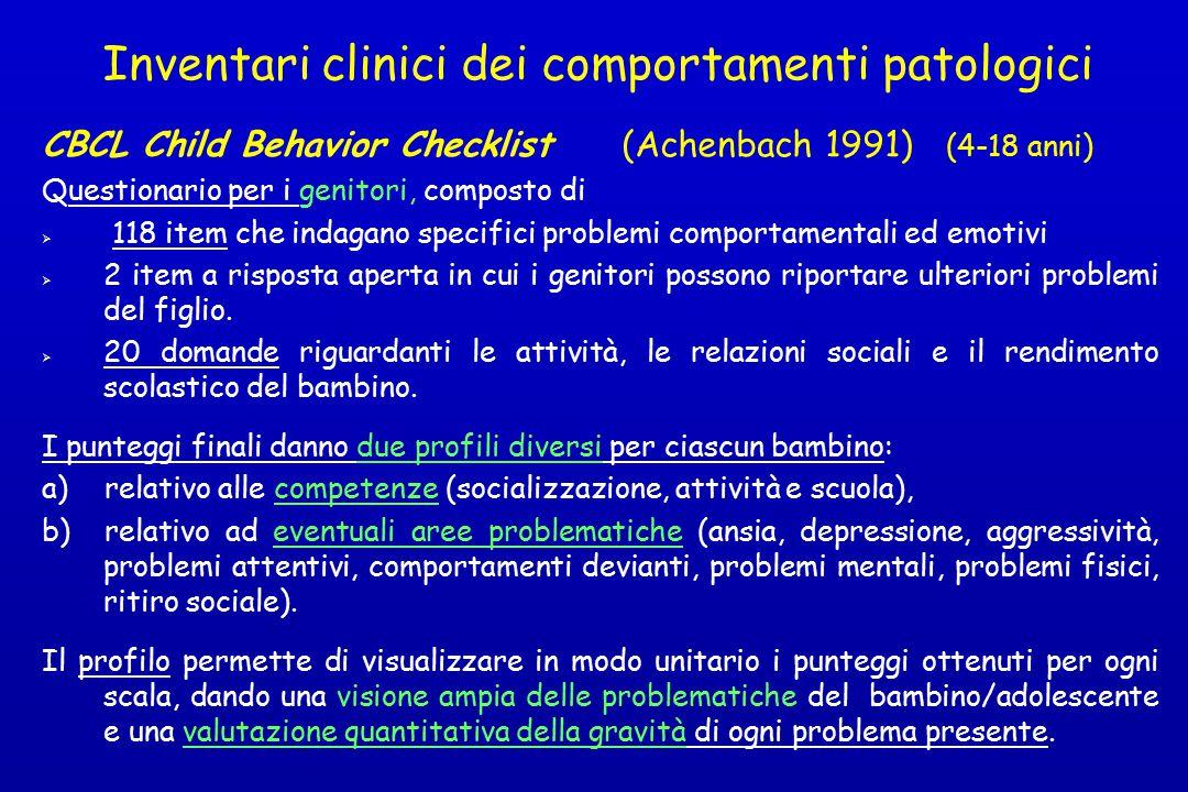 Inventari clinici dei comportamenti patologici