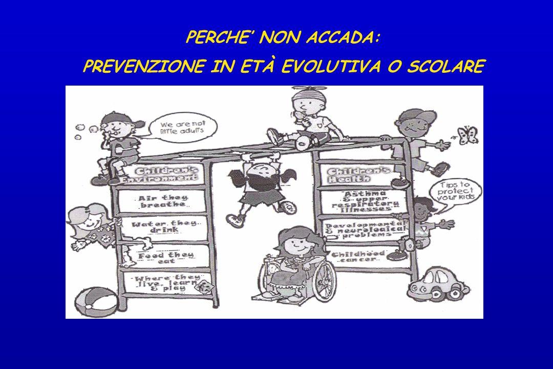 PREVENZIONE IN ETÀ EVOLUTIVA O SCOLARE
