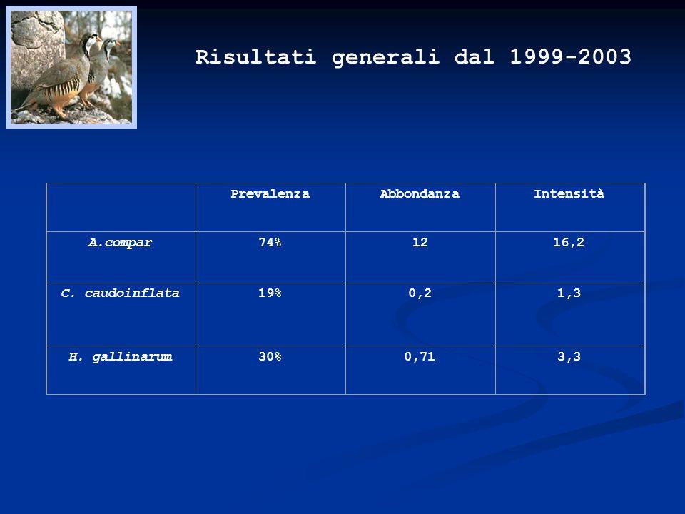Risultati generali dal 1999-2003