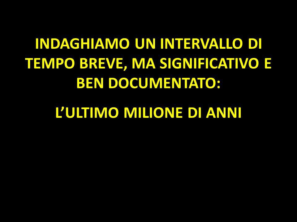 L'ULTIMO MILIONE DI ANNI