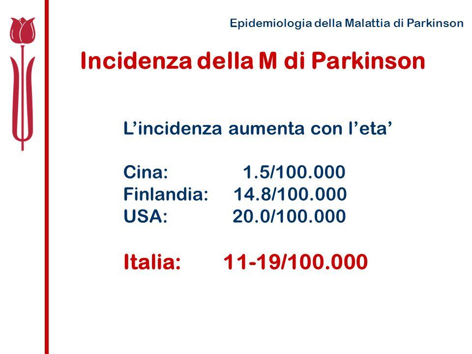Incidenza della M di Parkinson