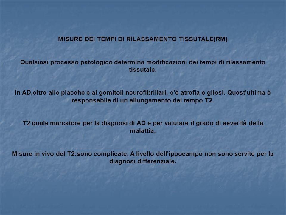 MISURE DEI TEMPI DI RILASSAMENTO TISSUTALE(RM)
