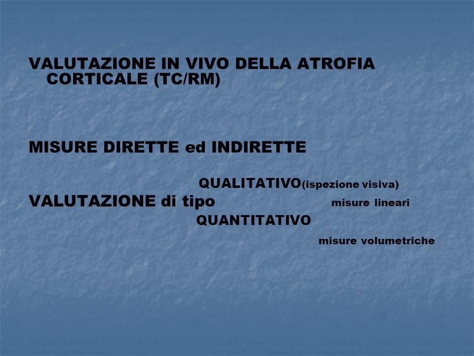 VALUTAZIONE IN VIVO DELLA ATROFIA CORTICALE (TC/RM)