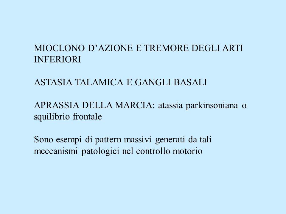 MIOCLONO D'AZIONE E TREMORE DEGLI ARTI INFERIORI